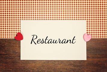 greeting card - restaurant