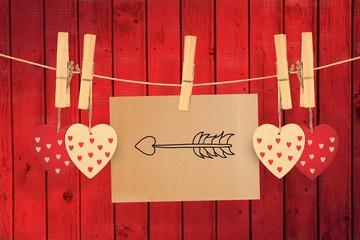 Composite image of cupids arrow