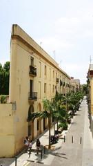 Vista de una calle de Barcelona