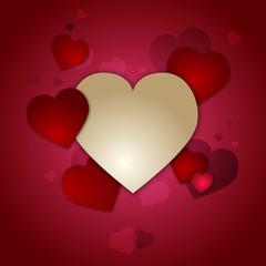 Carte postale cœur Saint Valentin offrir amour rouge