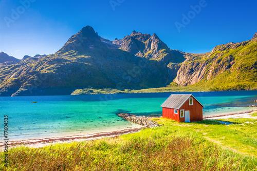 Staande foto Scandinavië Trollfjord, Lofoten
