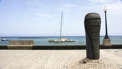 Paseo marítimo en arrecife, Lanzarote, Islas Canarias