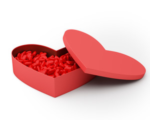 Heart Box of Valentine's Candy.