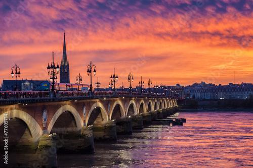 Coucher de soleil sur Bordeaux