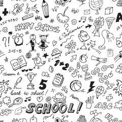 School seamless pattern