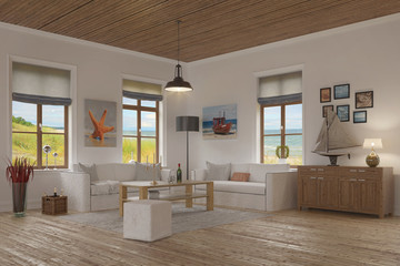 apartment - living room - baltic sea