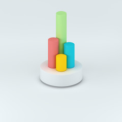 3d cylinder infographic elements render illustration