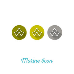 Paper Boat Marine Flat Icon - Webdesign Element with Long Shadow
