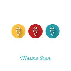 Ice Cream Marine Flat Icon