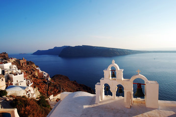 Oia sea view in Santorini island