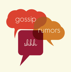 Speak bubbles gossip, rumors