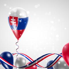 Slovak flag on balloon