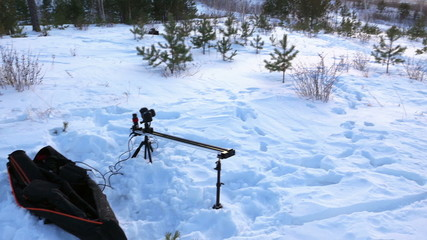 Shooting Time Lapse. Winter. Views of the city. Ekaterinburg