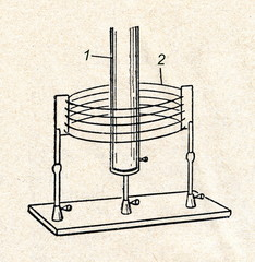 High frequency transformer (Tesla coil)