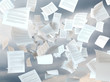 Leinwanddruck Bild - tax papers falling