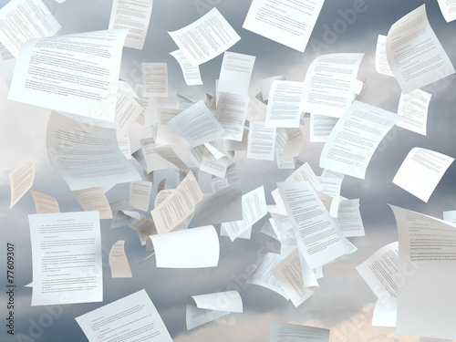 Leinwanddruck Bild tax papers falling