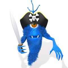 Monster pirate 3d illustration