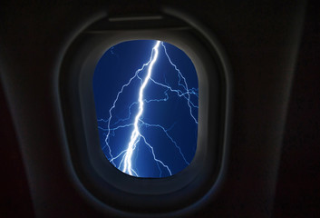 Looking out the window of a plane,lighting