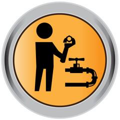 Plumber, pipeline, icon