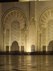 Gran Mezquita de Casablanca por la noche