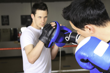A young boxer who training for his fight