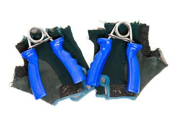 Federhandgriffe und Handschuhe
