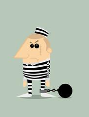 Cartoon prisoner