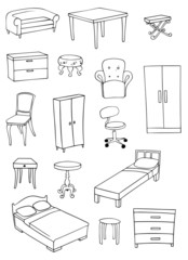 furniture vector set