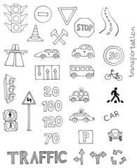 traffic rules vector set