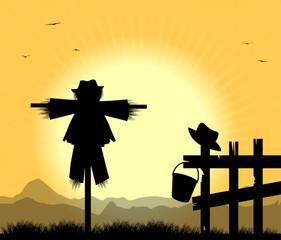 silhouette di spaventapasseri