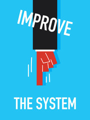 Words IMPROVE THE SYSTEM