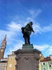 Giuseppe Tartini statue in Piran, Slovenia