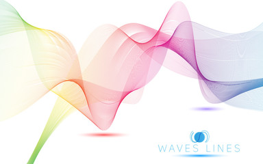 colorful light waves line bright abstract  illustration vector