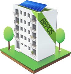 Immeuble BEPOS (Bâtiment à Energie Positive)