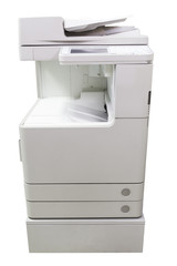 Copier machine on White background