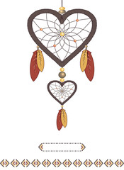 Valentine in the form of Dream catcher