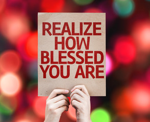 Realize How Blessed You Are card with colorful background