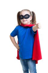 child girl weared superhero costume