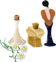 Флаконы духов, парфюмерия