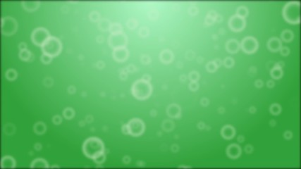 background with green bubbles