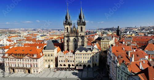 Foto op Canvas Praag Prague old town square view from old town hall tower, Prague