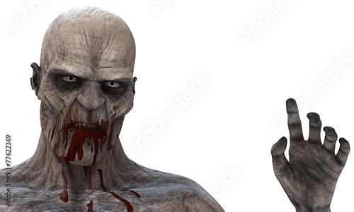 In de dag Begraafplaats Zombie