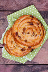 sweet bun with raisin