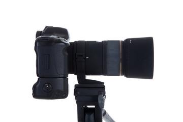Digitale Spiegelreflex Kamera mit Objektiv