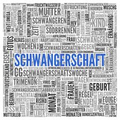 SCHWANGERSCHAFT | Konzept Word Tag Cloud