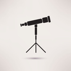 Telescope Icon in the flat style. vector.