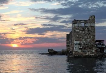 Byblos Sea Castle at Sunset