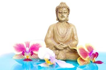 Buddha in blauem Wasser