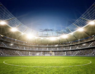 Fototapeta stadion piłkarski z linii końcowej