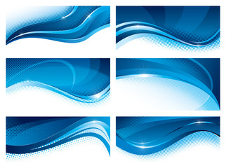 Banners blue set